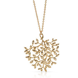 Tiffany & Co. Paloma Picasso Olive Leaf Pendant in 18K Yellow Gold