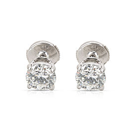 Cartier Platinum Diamond Earrings