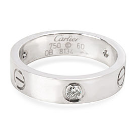 Cartier Love Platinum Diamond Ring Size 9.5