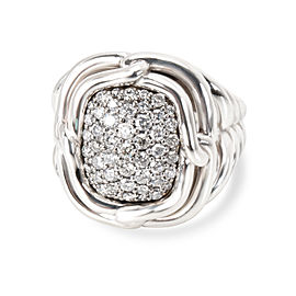 David Yurman Sterling Silver Diamond Ring Size 7