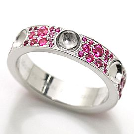 Louis Vuitton 18K WG Sapphire Ring Size 7.25