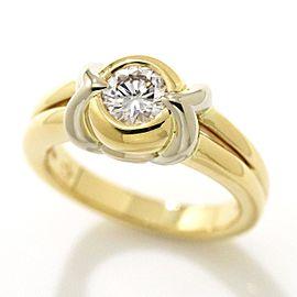 Bulgari 18K YG/ WG Diamond Ring Size 5.5