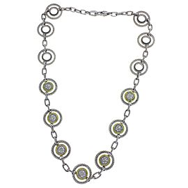 Judith Ripka Sterling Silver Diamond Necklace