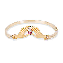 Carrera Y Carrera 18K Yellow Gold Ruby, Diamond Bracelet