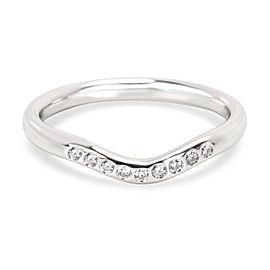 Tiffany & Co. Platinum Diamond Wedding Ring Size 5.5