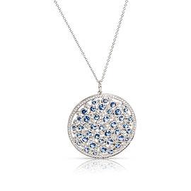 Tiffany & Co. Platinum Diamond, Sapphire Necklace