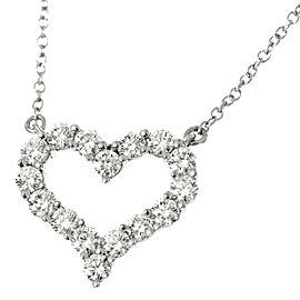 TIFFANY Co Platinum Heart Diamond Necklace