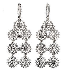 14K White Gold 4.10ctw Diamond Chandelier Drop Earrings