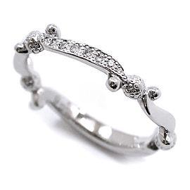 Gucci Platinum Diamond Ring Size 5