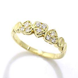 Christian Dior 18K Yellow Gold Diamond Ring Size 5