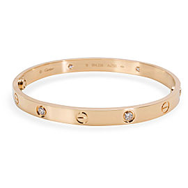 Cartier 18K Yellow Gold Diamond Bracelet Size 18mm
