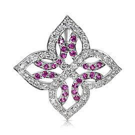 18K White Gold Sapphire, Diamond Pendant