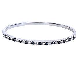 14K White Gold Diamond, Sapphire Bracelet
