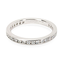 Tiffany & Co. Platinum Diamond Ring Size 6.75