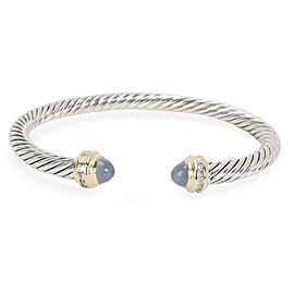 David Yurman 18K Yellow Gold, Sterling Silver Chalcedony, Diamond Bracelet
