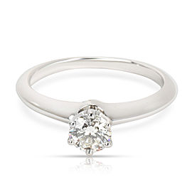 Tiffany & Co. Platinum Diamond Engagement Ring Size 8