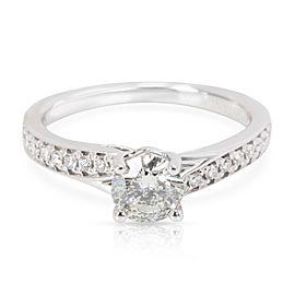 Ritani 18K White Gold Diamond Engagement Ring Size 5.5