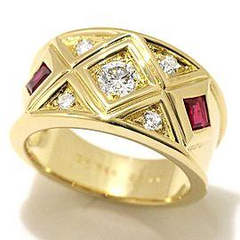 Christian Dior Diamond, Ruby Ring Size 6.25