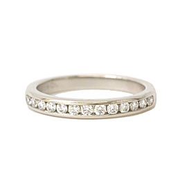 Tiffany & Co. 950 Platinum Half Eternity Diamond Ring Size 4.5