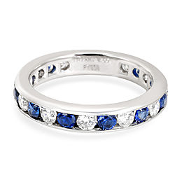 Tiffany & Co. Platinum Diamond, Sapphire Ring Size 4