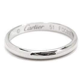 Cartier Platinum Ring Size 5.75
