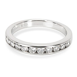 Tiffany & Co. Platinum Diamond Wedding Ring Size 7