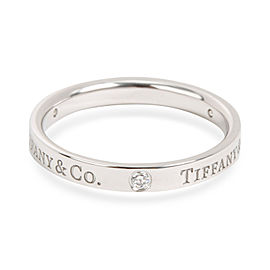 Tiffany & Co. Platinum Diamond Ring Size 8.5