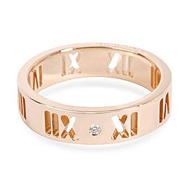 Tiffany & Co. 18K Rose Gold Diamond Ring Size 6