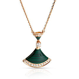 Bulgari 18K Rose Gold Diamond, Malachite Necklace