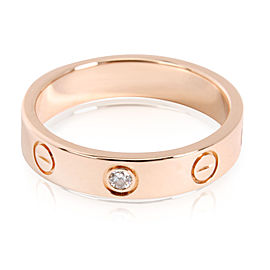 Cartier 18K Rose Gold Diamond Ring Size 5.25