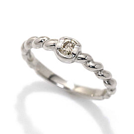 Christian Dior Platinum Diamond Ring Size 4.75