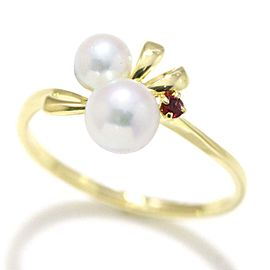 Mikimoto Cultured Pearl Ring Size 5.5