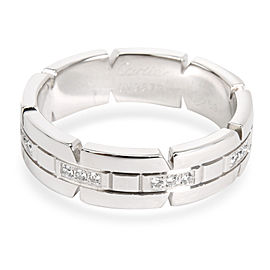 Cartier 18K White Gold Diamond Ring Size 9