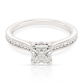 GIA Certified Ritani Diamond Engagement Ring in 14K White Gold E VS2 0.9 CTW