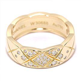 Chanel Diamond Crash Medium Ring Size 6