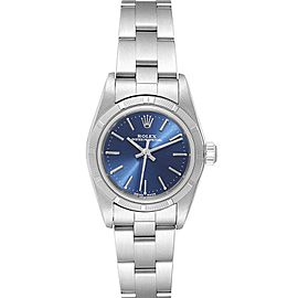 Rolex Oyster Perpetual Blue Dial Oyster Bracelet Steel Ladies Watch 76030