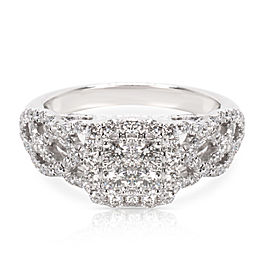 Diamond Engagement Ring in 14K White Gold (1.15 CTW)