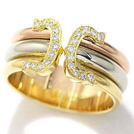 Cartier 18K 2C Diamond Ring Size 9