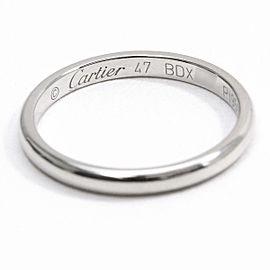 Cartier Platinum Classic Ring Size 4