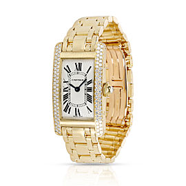 Cartier Tank Americaine WB7012K2 Women's Watch in 18kt Yellow Gold