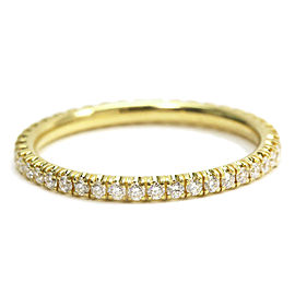Cartier 18K YG Etincelle Full Eternity Diamond Ring Size 3.25
