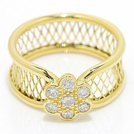 Van Cleef Arpels 18K YG Mantille Diamond Ring Size 6.25
