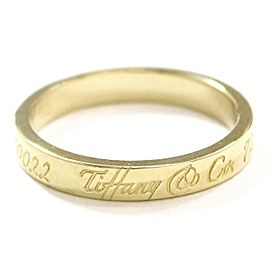 TIFFANY Co. 18K YG Notes Narrow Ring Size4.5