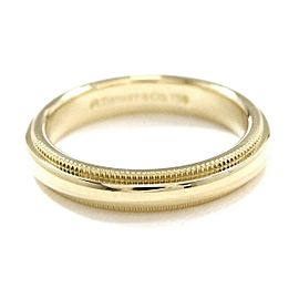 TIFFANY Co. 18K YG Milgrain Band Ring Size3.75
