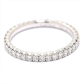Cartier 18K WG Etincelle Diamond Ring Size 4.5