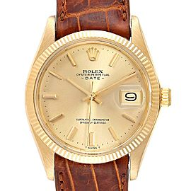Rolex Date 18K Yellow Gold Automatic Vintage Mens Watch 1503