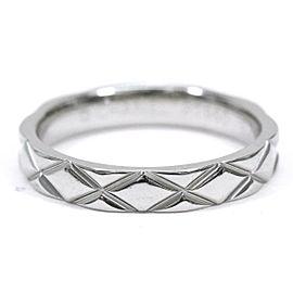 CHANEL Platinum Matelasse Ring Size 6.25