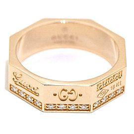 GUCCI 18K RG Octagonal Diamond Ring Size 4