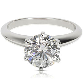 Tiffany & Co. Diamond Solitaire Engagement Ring in Platinum (2.02 ct D/VS1)
