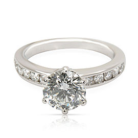 Tiffany & Co. Diamond Engagement Ring in Platinum G VS2 1.82 CTW